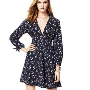 Juicy Couture Navy Floral Dress NWOT